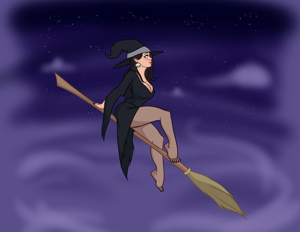 Sexy Witch Pin Up by TheCosbinator