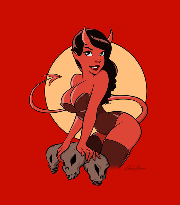 Devil Girl Pinup 2 by TheCosbinator