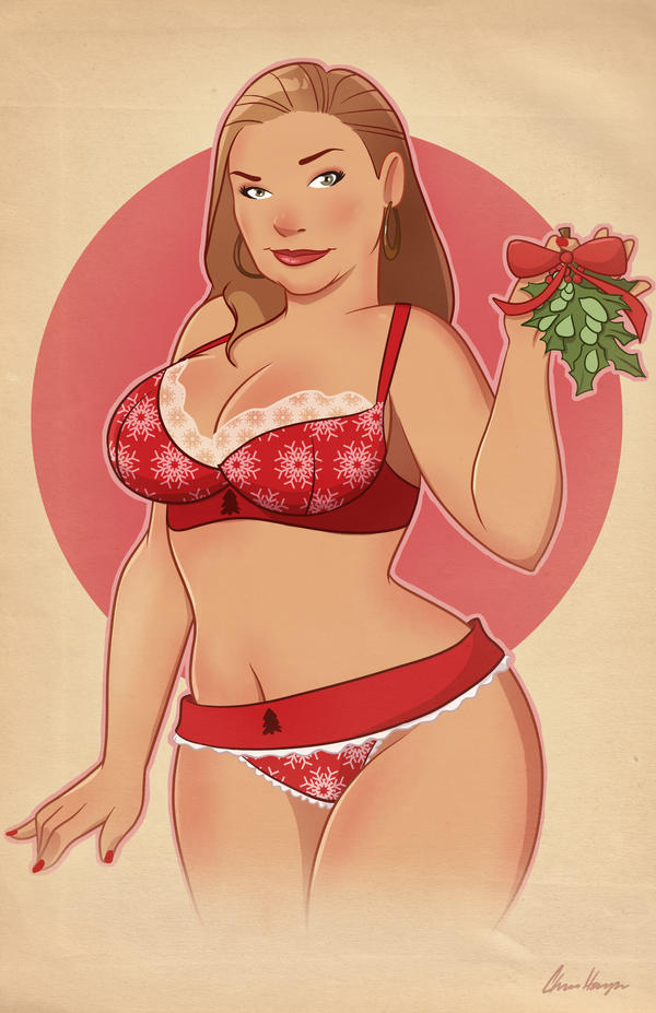 Christmas Pinup Bombshelly by TheCosbinator