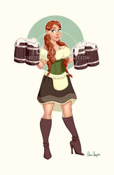 Bar Maiden Pin Up!