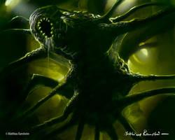 Alien Xenomorph spider by Furgur