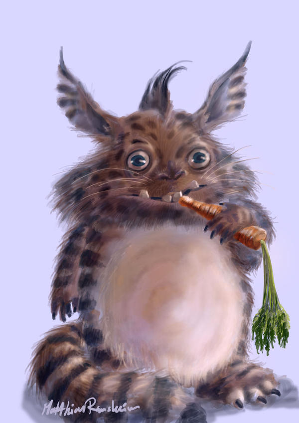 Chinchilla alien pet by Furgur