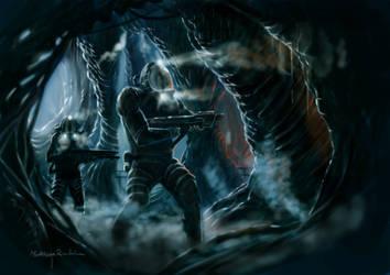 Alien 5 fan art by Furgur