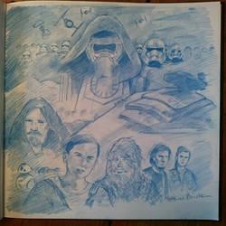 Star Wars The Force Awakens fanart by Furgur