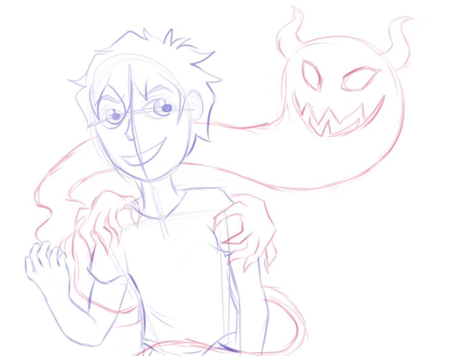 Demon - sketch by Tiger012