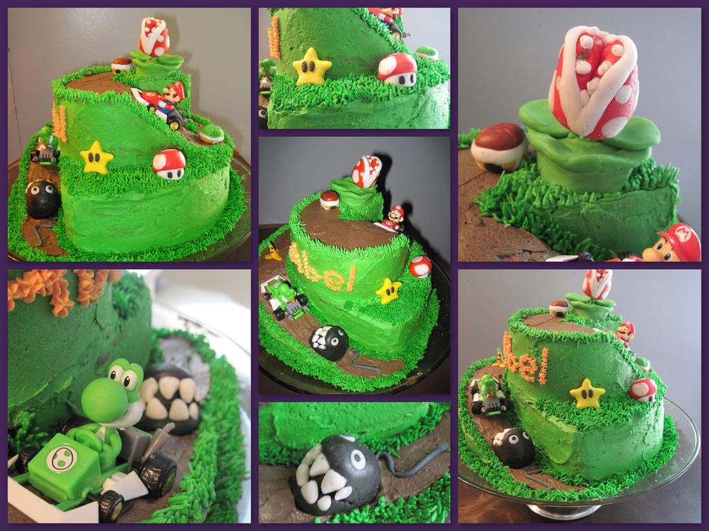 Mario Kart Birthday Cake by omnislash083