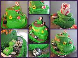 Mario Kart Birthday Cake by omnislash083
