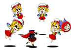 Flandre Scarlet - playing with Sekibanki