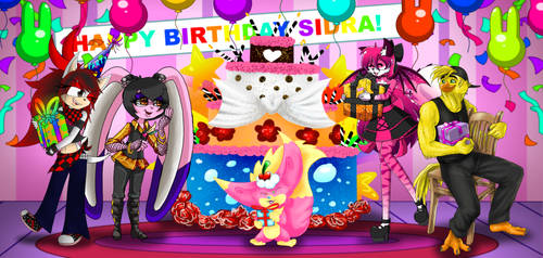 Collab - Happy Birthday to our Favorite Pink bunny by drinkyourvegetable
