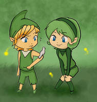 Mido and Saria by Linkerbell