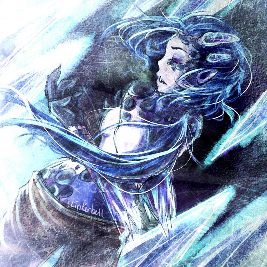 Ice-Born Shyvana by Linkerbell