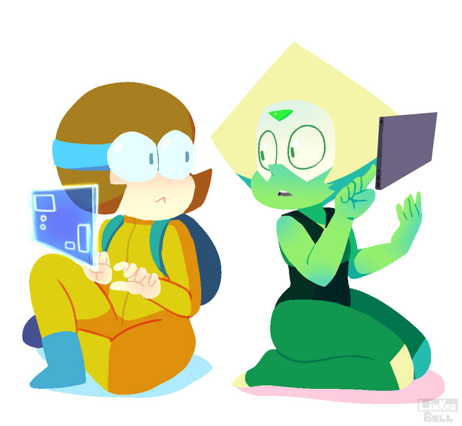 OK K.O.'s newest character reveal, Dendy gave me some serious Peridot feels. It's like Peridot and Velma from scooby doo had a child. Dendy(C) OK K.O. Peridot(C) Steven Universe