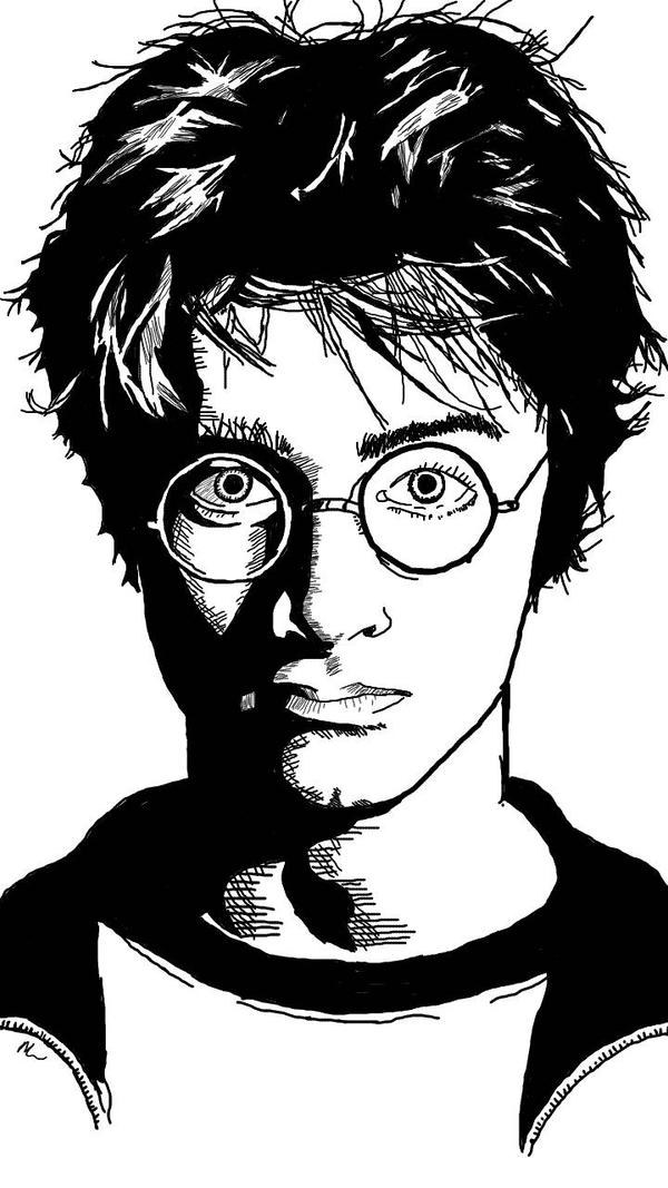 Black White Harry Potter by Mirandarenee1991 on DeviantArt