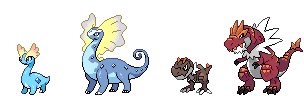 Amaura, Aurorus, Tyrunt and Tyrantrum sprite by Seiku88 on ...