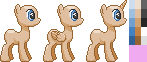 My Little Pony Pixel Art Sprite Template 2