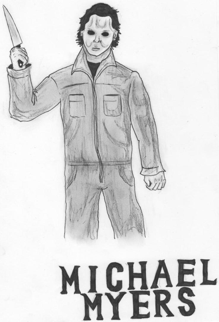 michael myers coloring pages - michael myers free coloring pages