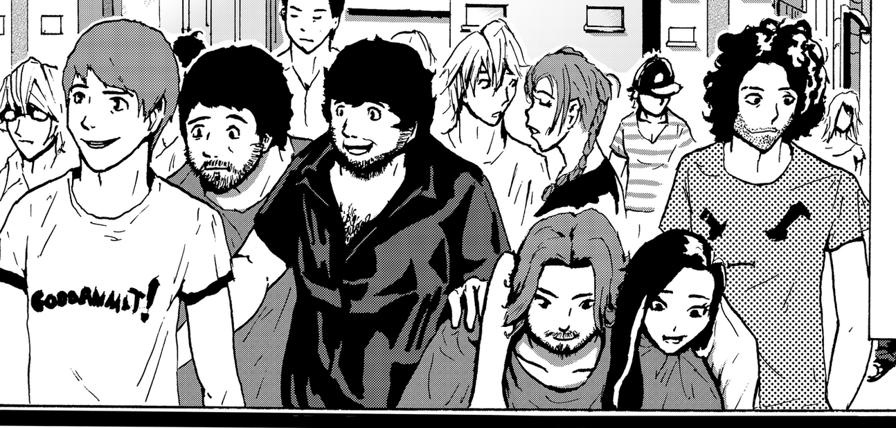 Game Grumps Manga cameo by Menthalo