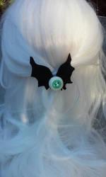 Flying eyeball hair bow by littlebitakit