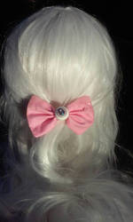 Eye see you bow (pink) by littlebitakit