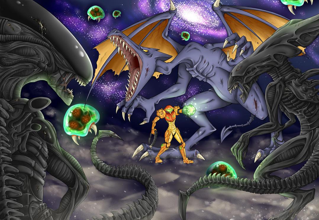Alien vs. Metroid by Frankychan1