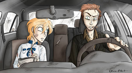 Apocalypse AU - father and daughter roadtrip by Frankychan1