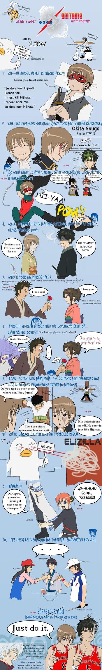 Gintama Art Meme no.1 by 13W