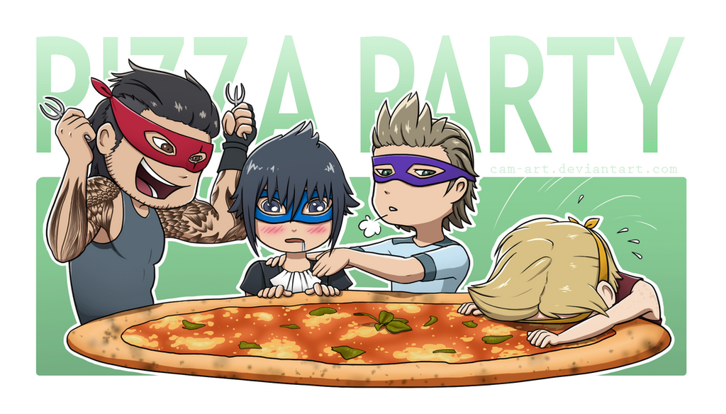 Pizza Party by Cam-Art