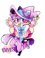 Pastel Cat Witch Patton by DarkMagic-Sweetheart