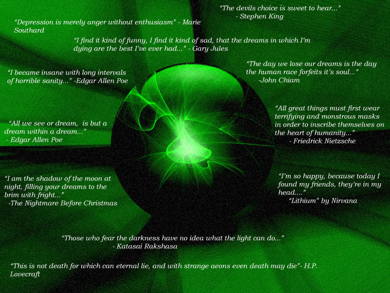 Dark quotes on Emerald BG by DarknessArts on DeviantArt