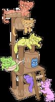 cat tower // ych by alaskii