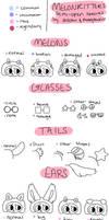 melonkitters | traits sheet by alaskii