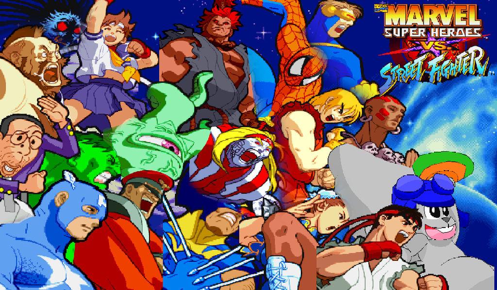 My Own Marvelsh Vs Street Fighter Background By Kdgamer015 On