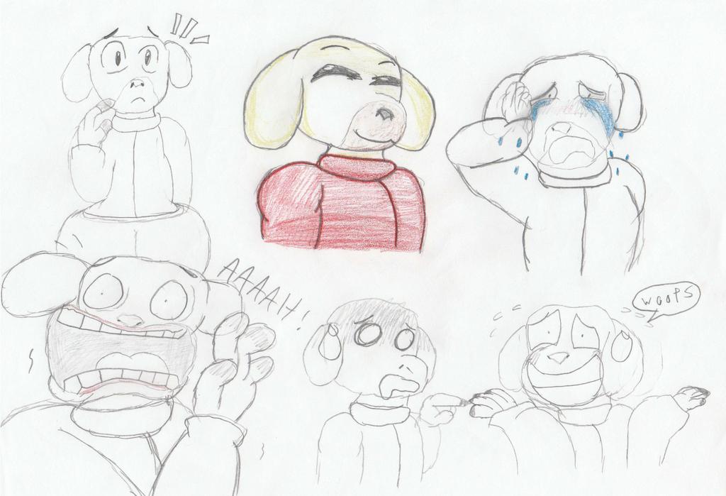 Dorkie Goatie Guy Doodles by KDgamer015