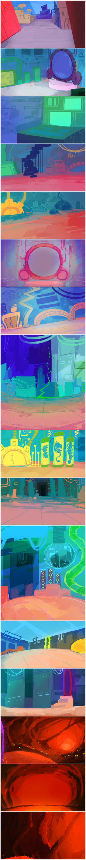 SplaDoom (backgrounds) by Stormful