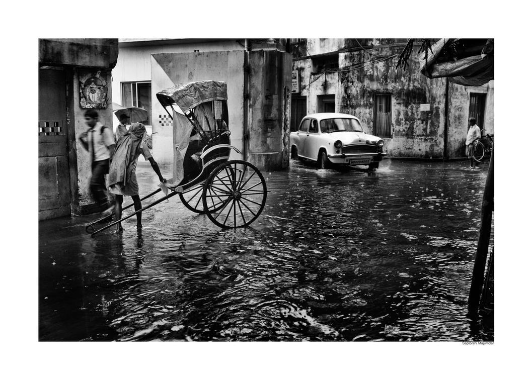 Kolkata Rain by derozio