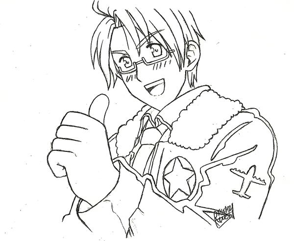 hetalia coloring pages allies - photo#9