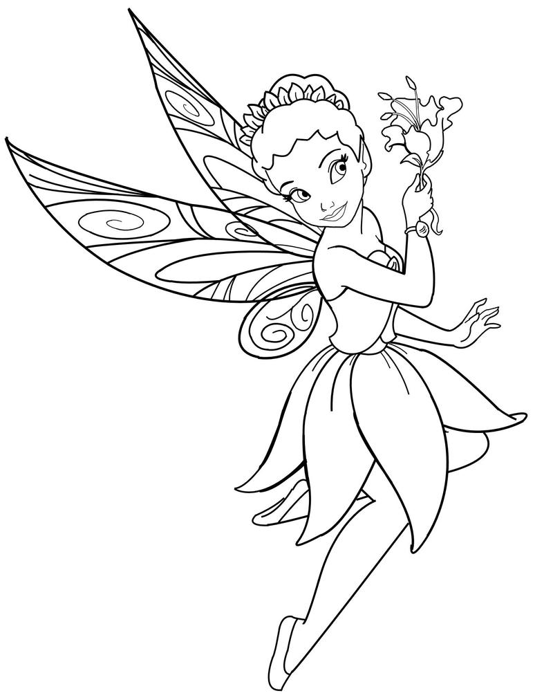 coloring pages of fairies - disney fairy iridessa lineart by mercuriusneko on deviantart