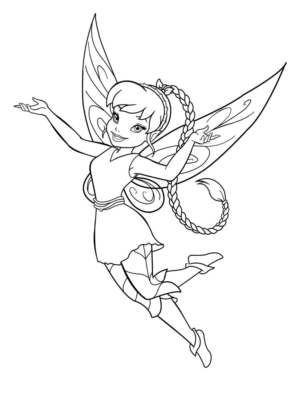fawn fairy coloring pages disney fairy fawn lineart by mercuriusneko on deviantart