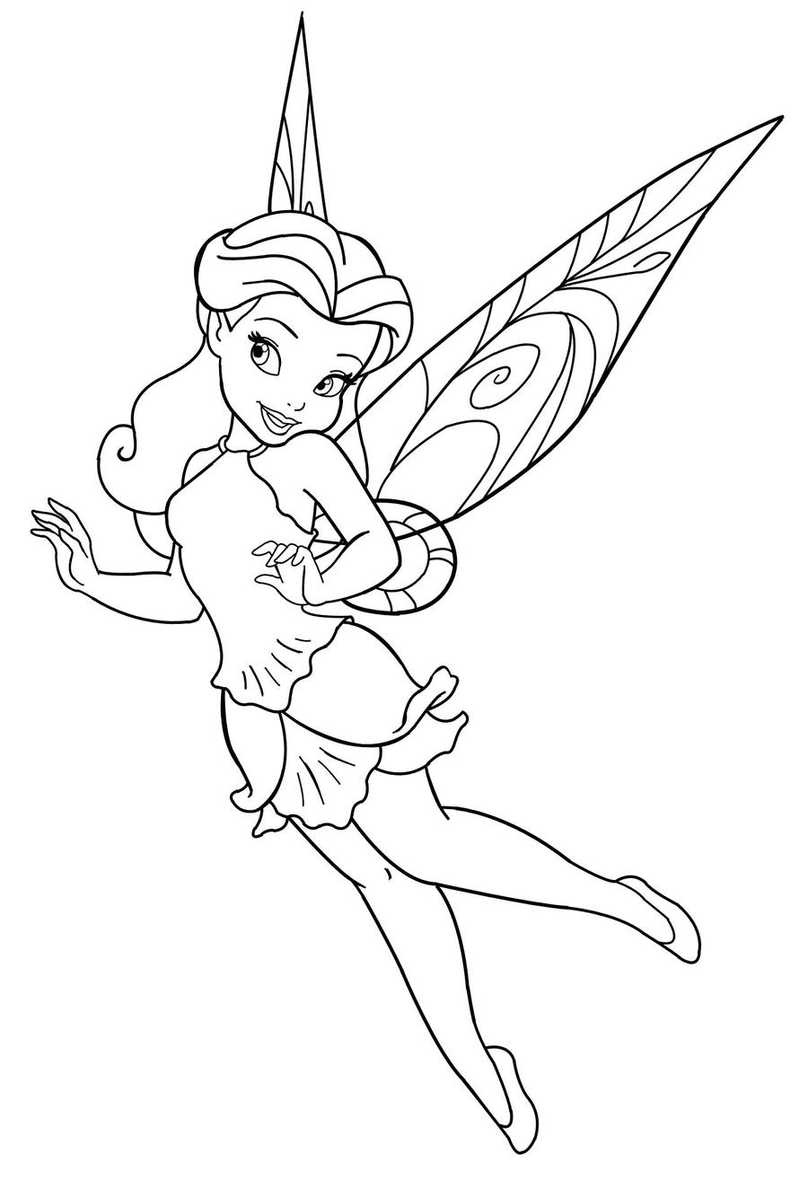 Disney fairy rosetta by mercuriusneko on deviantart for Vidia fairy coloring pages