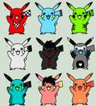 Pikachu Adoptables - 20 points each