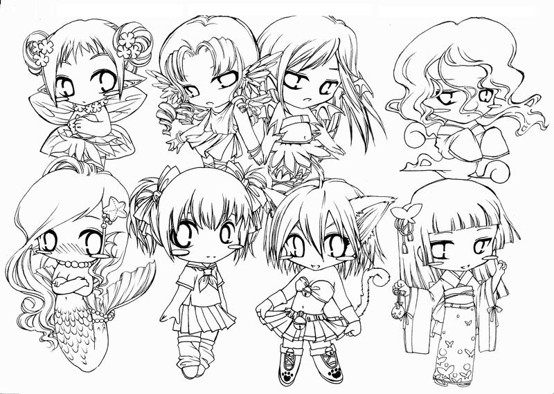 Chibi collection by tonayosiky