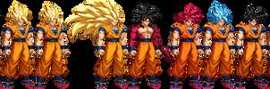 Goku Transformations (Updated)