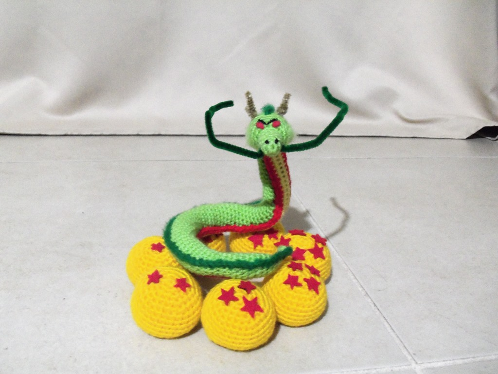 Crochet Amigurumi Pattern Dragonball Z 1-7 Dragonballs. | Etsy | 768x1024