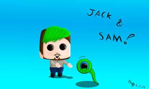 Jacksepticeye + Septic Sam!