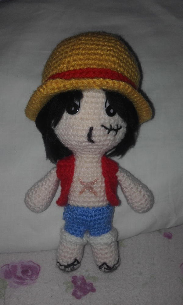 One PieceMonkey D. Luffy (Amigurumi) by OnlyIfItsFluffy ...