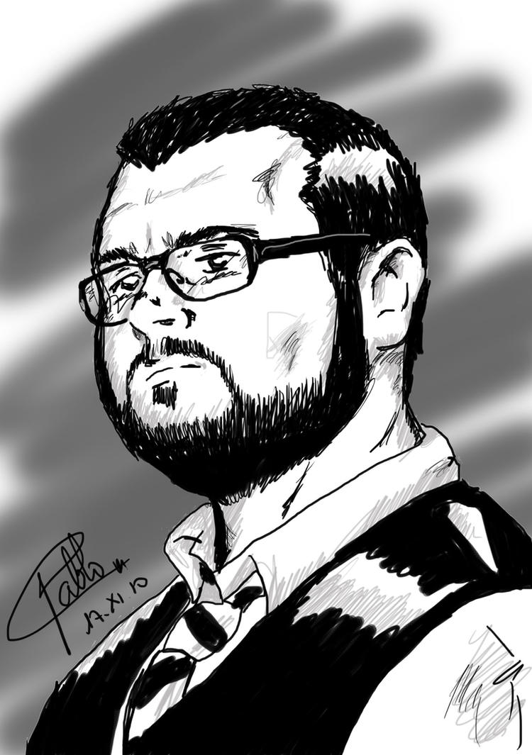 Self portrait comic-book by El-Eidan
