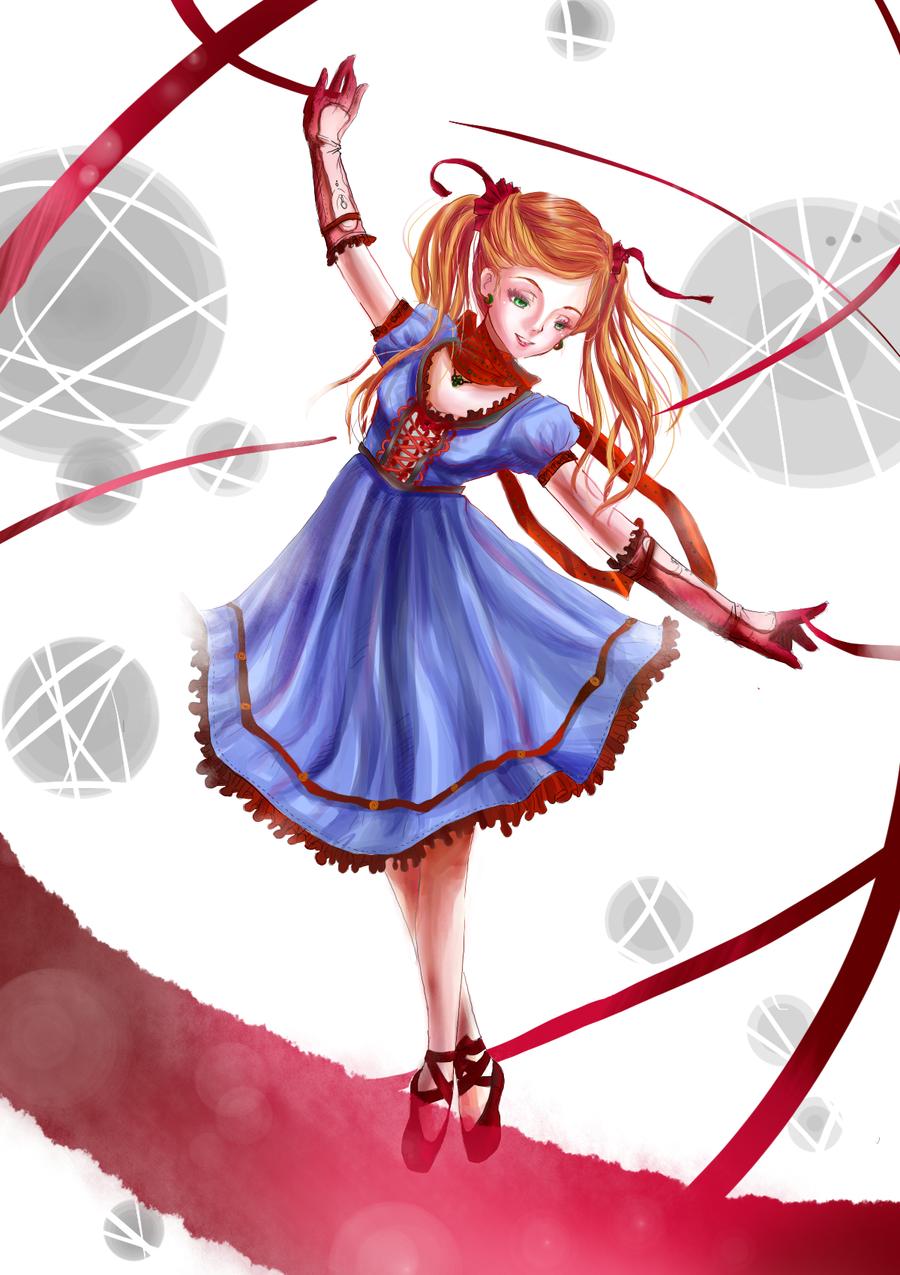 ribbon magic by manga-drawing-luver