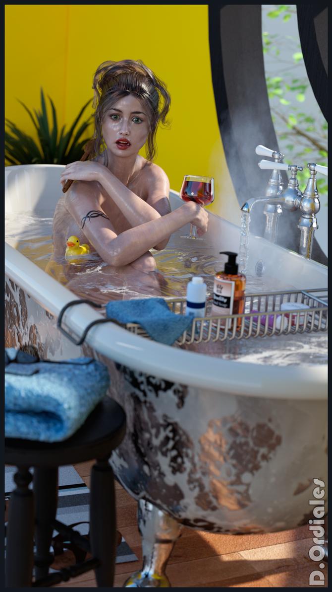 Blanca - Bath 01 by DOrdiales