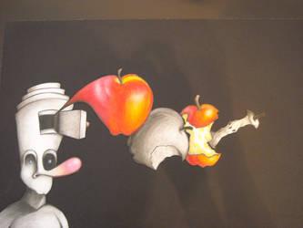 Allan's Disintegrating Apple by CardinalDesign