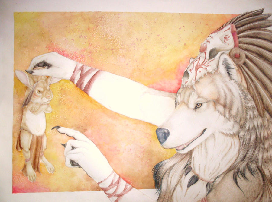 Wolf and Rabbit by tayba
